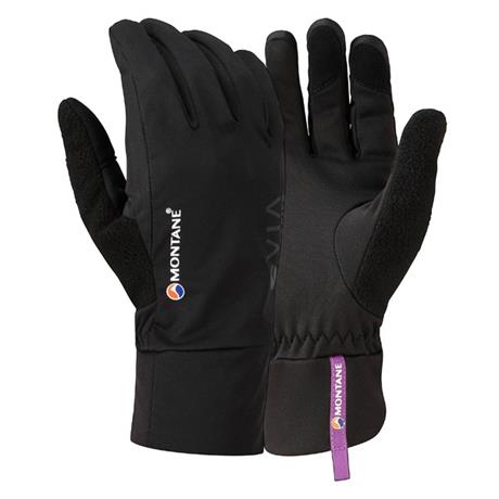 Montane SOFTSHELL Gloves Women's Via Trail Black