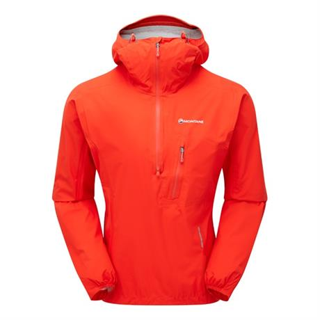 Montane WATERPROOF Jacket Men's Minimus Stretch Pull-On Flag Red/Shadow