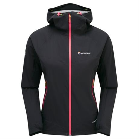 Montane WATERPROOF Jacket Women's Minimus Stretch Ultra Black/Dolomite Pink