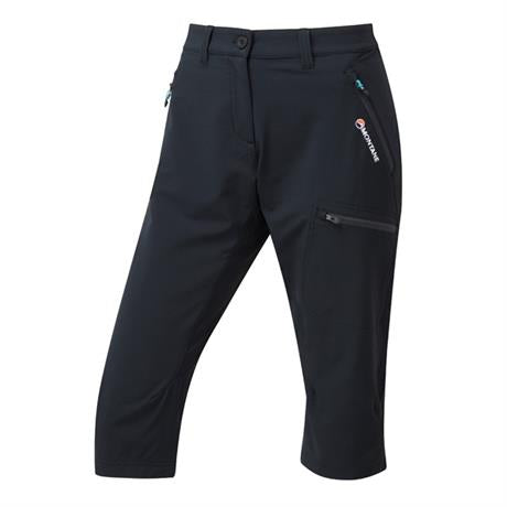 Montane Pant Women's Dyno Stretch Capri Black/Phantom