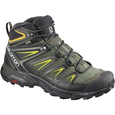 Salomon Boots Men's X Ultra 3 Mid GTX Castor Grey/Black/Green Sulphur