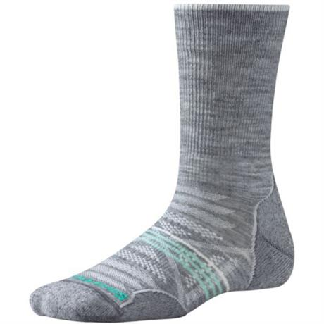 Smartwool HIKING Socks Women's PhD Outdoor Light Crew Light Grey
