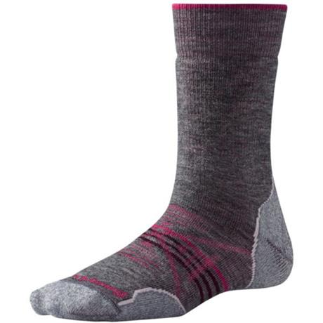 Smartwool HIKING Socks Women's PhD Outdoor Med Crew Medium Grey