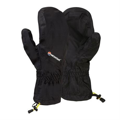 Montane Gloves WATERRROOF Minimus Mitts Overmitt Black/Kiwi
