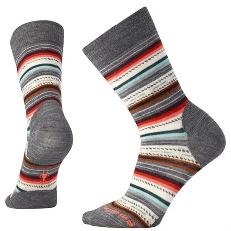 Smartwool Socks Women's Margarita Medium Grey Heather/Coral