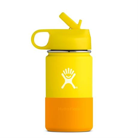 Hydro Flask CHILDREN'S Hydration 12oz / 0.35 L Wide Mouth Bottle Lemon