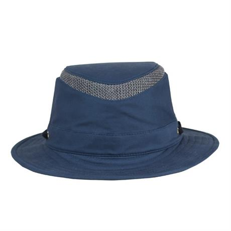 Tilley Hat T5MO Airflo Medium Brim Organic Cotton Mid-Blue