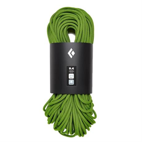 Black Diamond Climbing Rope 9.4 mm x 60 m Dry Envy Green