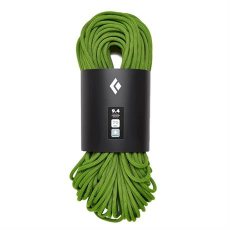 Black Diamond Climbing Rope 9.4 mm x 70 m Dry Envy Green