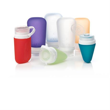 humangear GoToob+ MEDIUM 74ml Clear/Purple/Turquoise (3 Pack)