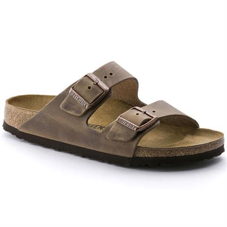Birkenstock Sandals Arizona Slim Fit Oiled Leather Tobacco Brown