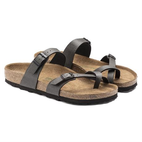 Birkenstock Sandals Women's Mayari Regular Pull Up Anthracite Vegan