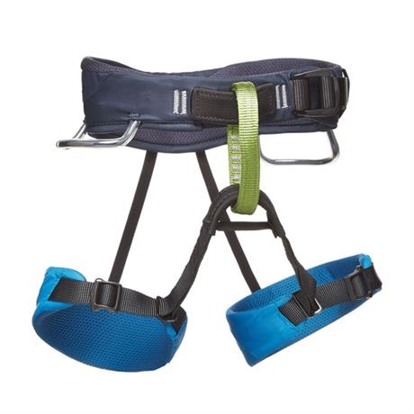 Black Diamond Climbing Harness Children's Momentum Sit Kingfisher Blue