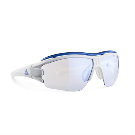 Adidas Eyewear Evil Eye Halfrim Pro L Sunglasses White Shiny - Blue Mirror Vario