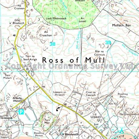 OS Explorer Map 373 Iona, Staffa and Ross of Mull