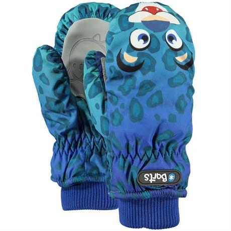 Barts Gloves Kid's Nylon Mitts Leopard Blue