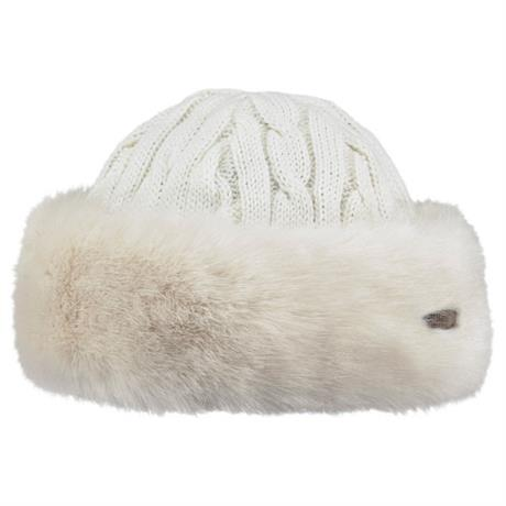 Barts Hat Women's Cable Bandhat Faux Fur White