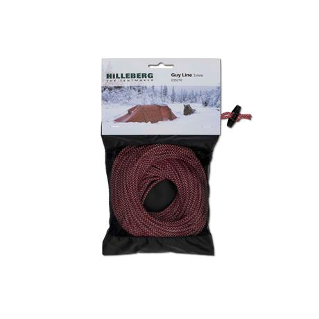 Hilleberg Tent Spare/Accessory Guy Line Cord 3mm Red & White (25m pack)