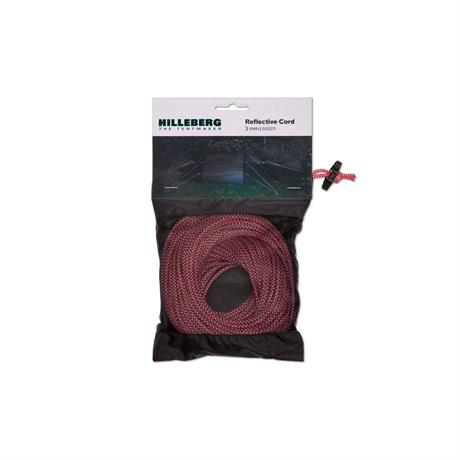 Hilleberg Tent Spare/Accessory: Guy Line Cord 3mm Red & White REFLECTIVE (25m)