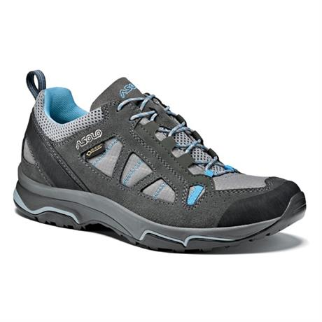 Asolo Shoes Women's Megaton GV Graphite/Stone/Cyan Blue