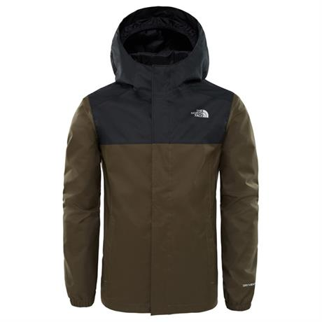 North Face WATERPROOF Jacket Boy's Reflective Resolve New Taupe Green