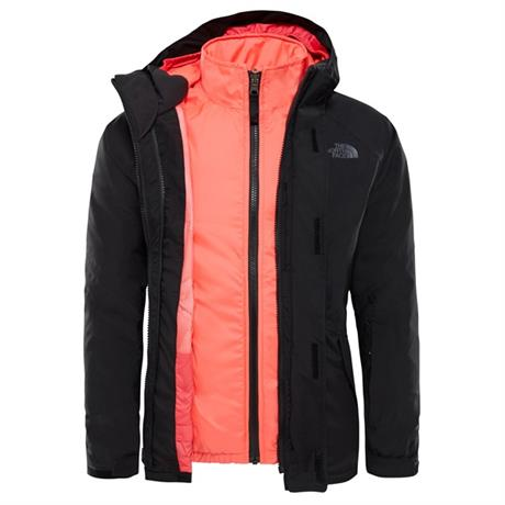 North Face INSULATED Jacket Girl's Kira Triclimate TNF Black