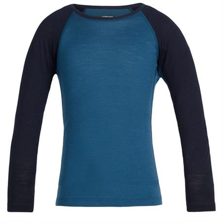 Icebreaker BASE LAYER Top Kid's Oasis LS Crewe Prussian Blue/Midnight Navy