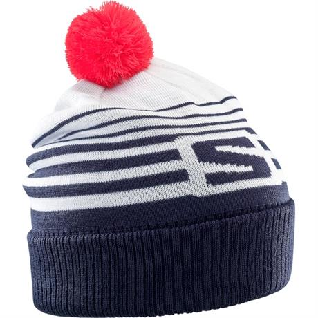 Salomon Hat Izi Beanie White/Night Sky/Hibiscus