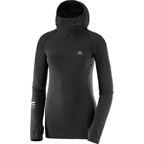 Salomon Top Women's Lightning Pro LS Hoodie Black