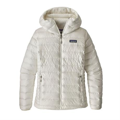Patagonia INSULATED Jacket Women's Down Sweater Hoody Birch White