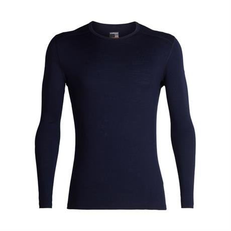 Icebreaker BASE LAYER Top Men's 200 Oasis LS Crewe Midnight Navy