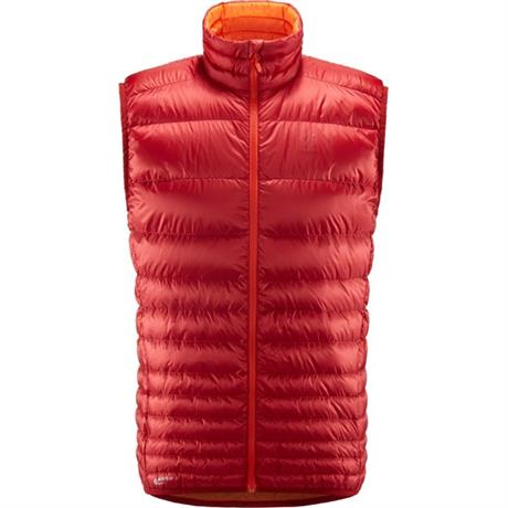 Haglofs INSULATED Top Men's Essens Down Vest Rubin/Cayenne