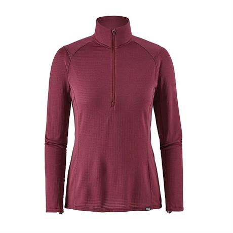 Patagonia BASE LAYER Top Women's Capilene Thermal Weight Zip Arrow Red/Currant