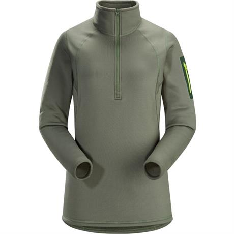 Arc'teryx BASE LAYER Top Women's Rho AR Zip Neck Shorepine Green