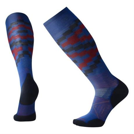 Smartwool SKI Socks Men's PhD Ski Light Elite Pattern Dark Blue