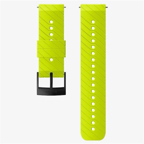 Suunto Watch Spare/Accessory: 24mm Athletic 3 Silicone Strap Lime/Black Medium