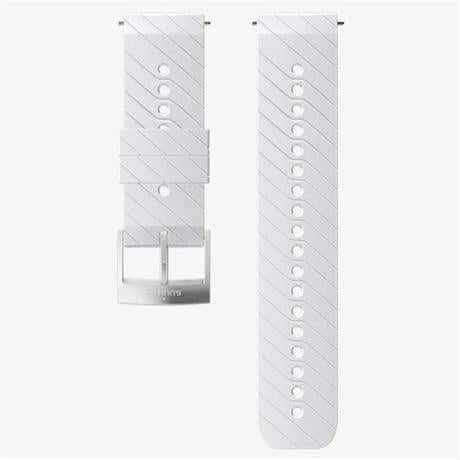 Suunto Watch Spare/Accessory: 24mm Athletic 3 Silicone Strap White/Steel Medium