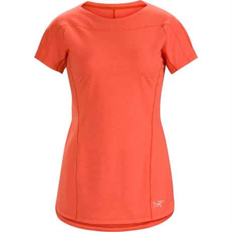 Arc'teryx BASE LAYER Top Women's Taema Crew SS Hard Coral