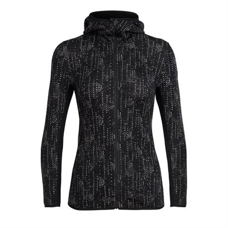 Icebreaker Jacket Women's Away LS Zip Hood Showers Black