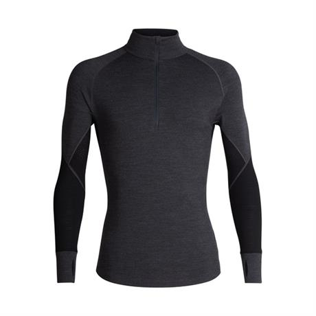 Icebreaker BASE LAYER Top Men's 260 Zone LS 1/2 Zip Jet/Black/Mineral