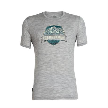 Icebreaker Top Men's Tech Lite SS Brand Cook Crest Metro Heather