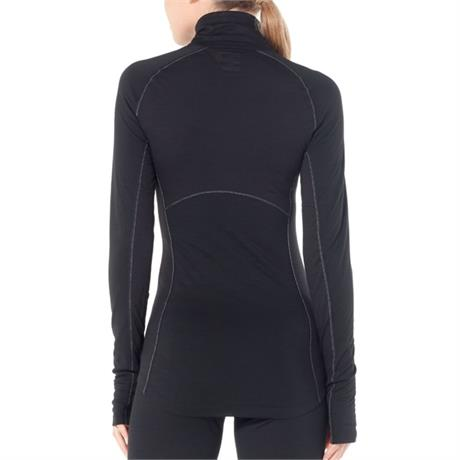 Icebreaker BASE LAYER Top Women's 150 Zone LS Half Zip Black/Mineral