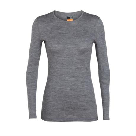 Icebreaker BASE LAYER Top Women's 200 Oasis LS Crewe Gritstone Heather