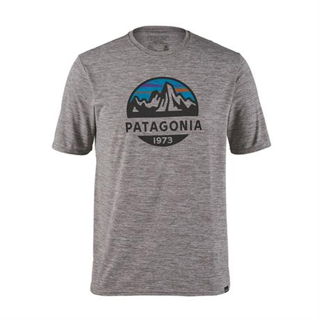 Patagonia Top Men's Cap Cool Daily Graphic Shirt Fitz Roy:Feather Grey