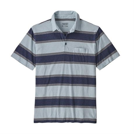 Patagonia Top Men's Squeaky Clean Polo Rugby Stripe:Atoll Blue