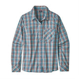 Patagonia Top Women's LS Havasu Shirt Tropicat:Dolomite Blue