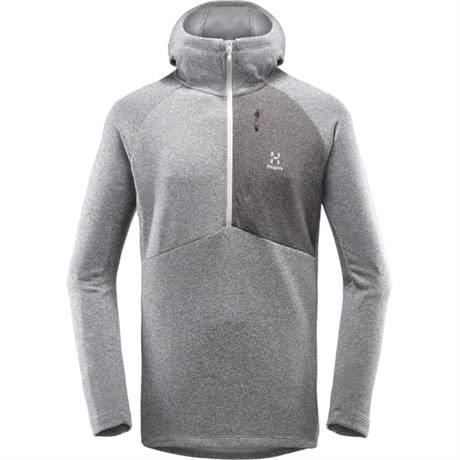 Haglofs FLEECE Top Men's Nimble Hooded Grey Melange