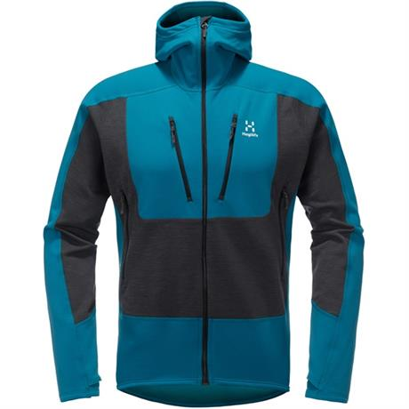 Haglofs FLEECE Jacket Men's Serac Mosaic Blue/Magnetite