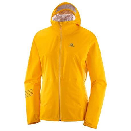 Salomon WATERPROOF Jacket Women's Lightning WP Saffron