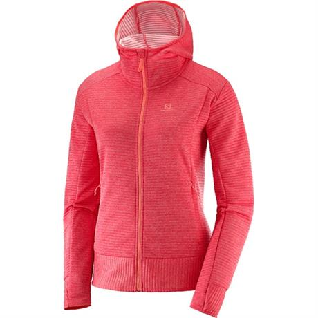 Salomon Jacket Women's Right Nice Mid Hoodie Hibiscus